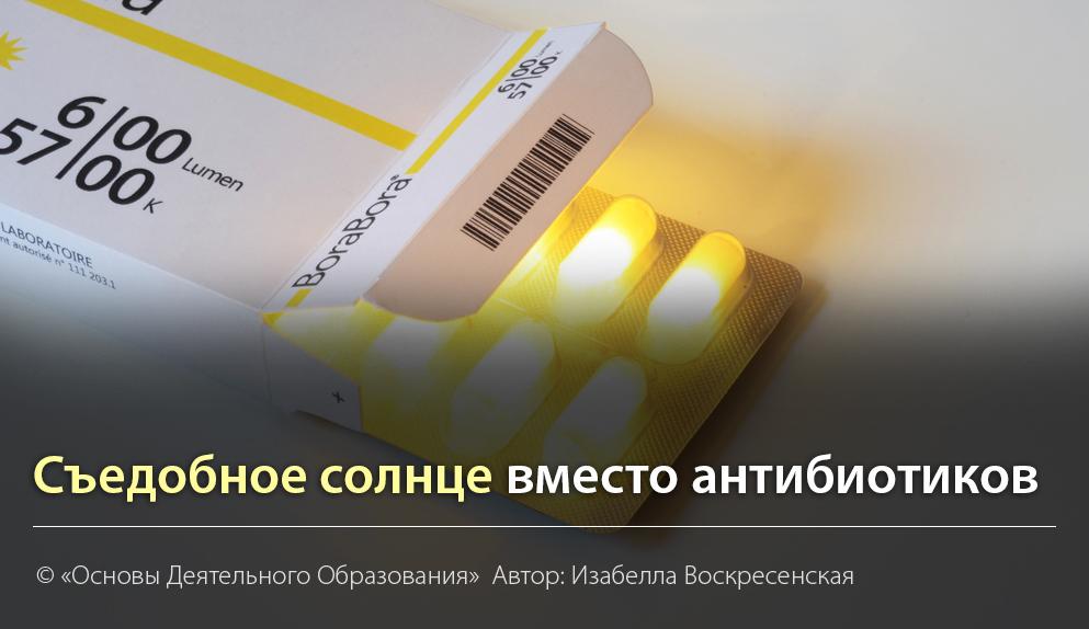 """""""Съедобное солнце вместо антибиотиков"""" Автор Изабеллы Воскресенская"""